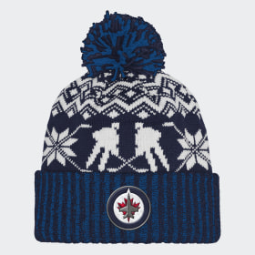 Jets Ugly Sweater Cuffed Pom Beanie