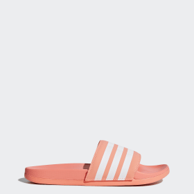 52f73d3ddff09 Adilette Cloudfoam Plus Stripes Slides
