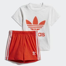 Conjunto camiseta y pantalón corto Trefoil