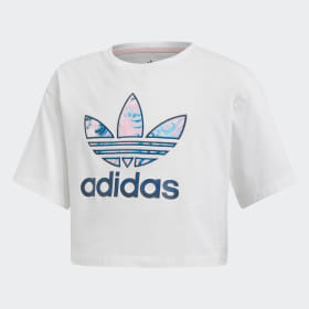 Marble Cropped T-skjorte