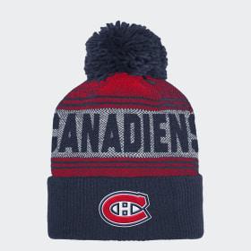 Bonnet Canadiens Cuffed Pom Knit
