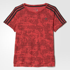 Essentials 3-Streifen Allover Print T-Shirt