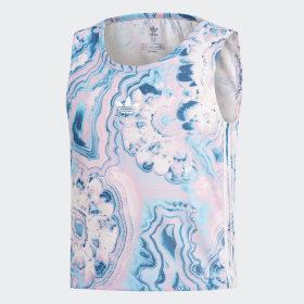 Camiseta de tirantes Marble Cropped