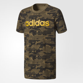 Playera Trifolio Linear Estampado Camuflaje Junior