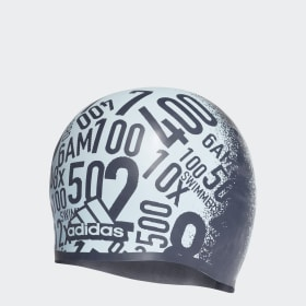 Allover Print Silicone Swim Cap