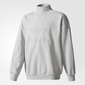 Trefoil French Terry Crew Sweatshirt