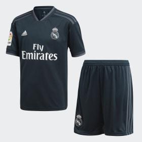 Miniconjunto segunda equipación Real Madrid