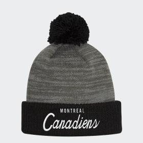 Bonnet Canadiens Cuffed Pom