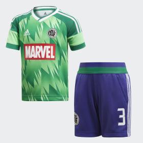 Conjunto Futebol Marvel Hulk