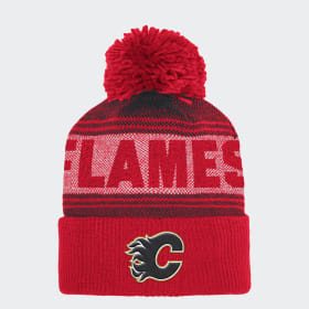Bonnet Flames Cuffed Pom Knit