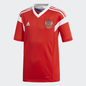 Camisa Oficial Rússia 1 Infantil 2018
