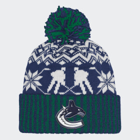 Canucks Ugly Sweater Cuffed Pom Beanie