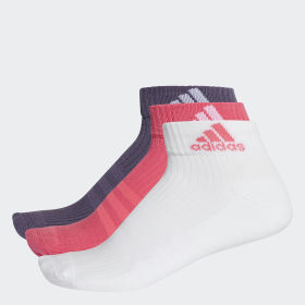3-Stripes Performance ankelsokker, 3 par