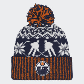 Oilers Ugly Sweater Cuffed Pom Beanie