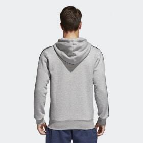 Essentials 3-Streifen Fleece Kapuzenjacke