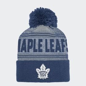 Bonnet Maple Leafs Cuffed Pom Knit