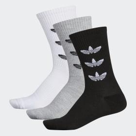 Trefoil Repeat Crew Socks 3 Pairs