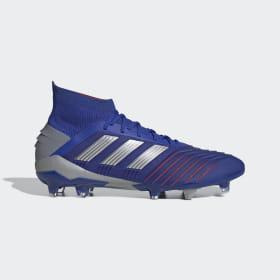 adidas - Bota de fútbol Predator 19.1 césped natural seco Bold Blue / Silver Met. / Football Blue BB9079
