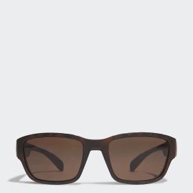 SP0007 Shiny Black Injected Sport Sunglasses