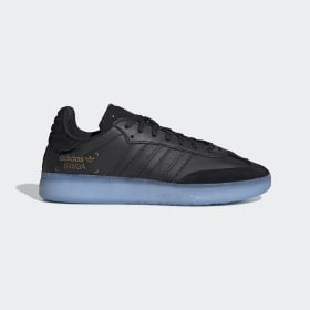adidas - Zapatilla Samba RM Core Black / Shock Cyan / Gold Met. BD7476