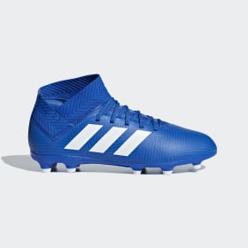 adidas - Bota de fútbol Nemeziz 18.3 césped natural seco Football Blue / Cloud White / Football Blue DB2351