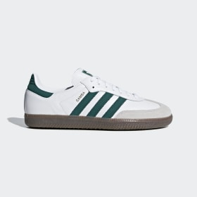 adidas - Samba OG Shoes Cloud White / Collegiate Green / Crystal White B75680
