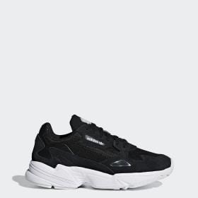 Details zu adidas Originals Schuhe Retro Damen Sneaker Falcon Turnschuhe Weiß Freizeitschuh