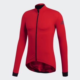 adidas - Maillot Climaheat Cycling Winter Scarlet BR7818
