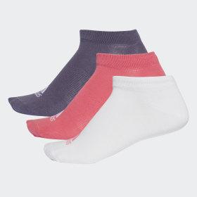 adidas - Performance No-Show Thin Socks 3 Pairs Multicolor / White / Trace Purple CF7372