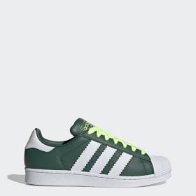 adidas superstar verdes hombre