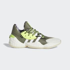 adidas - Daniel Patrick x Harden Vol. 4 Schoenen Legacy Green / Cloud White / Solar Yellow FV8921