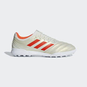 adidas - Copa 19.3 Turf Boots Beige / Solar Red / Cloud White BC0558