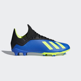 adidas - X 18.3 Firm Ground Boots Football Blue / Solar Yellow / Core Black DB2416