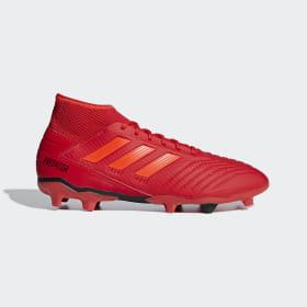 adidas - Bota de fútbol Predator 19.3 césped natural seco Active Red / Solar Red / Core Black BB9334