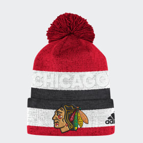 Blackhawks Team Cuffed Pom Beanie ... b915e3fa95