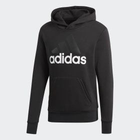 adidas - Essentials Linear Pullover Hoodie Black / White S98772