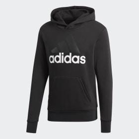 adidas - Sudadera con capucha Essentials Linear Pullover Black / White S98772