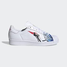 adidas - Superstar Clean Shoes Cloud White / Cloud White / Gold Metallic FW5351