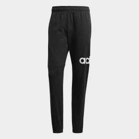 adidas - Essentials Performance Logo Joggers Black / White B47217