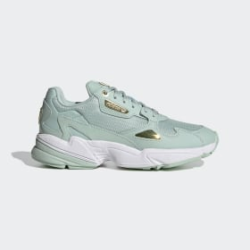 adidas - Falcon Shoes Green Tint / Gold Metallic / Cloud White FV5092