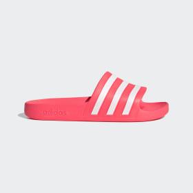 adidas - Adilette Aqua Slides Signal Pink / Cloud White / Signal Pink FW4292