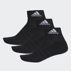 adidas - 3-Stripes Performance Ankle Socks 3 Pairs Black / White / White AA2286