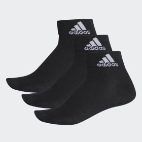 adidas - Calcetines tobilleros finos Performance Black / Black / White AA2321