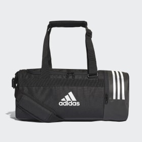 adidas - Convertible 3-Stripes Duffel Bag Small Black / White / White CG1532