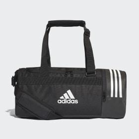 adidas - Convertible 3-Stripes Duffel Bag Small Black / White / White CG1532