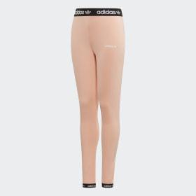 adidas Wardrobe Fun Cotten Tight Training Pants Girls Lightgrey, Pink