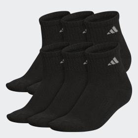 Athletic Cushioned Quarter Socks 6 Pairs