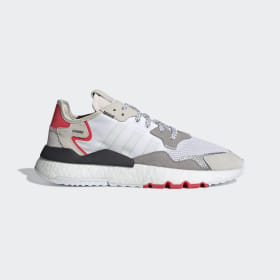 adidas - Zapatilla Nite Jogger Beige / Crystal White / Shock Red F34123