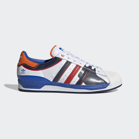 adidas - Superstar Shoes Cloud White / Blue / Scarlet FW8153