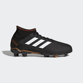 adidas - Bota de fútbol Predator 18.3 césped natural seco Core Black / Cloud White / Solar Red CP9010
